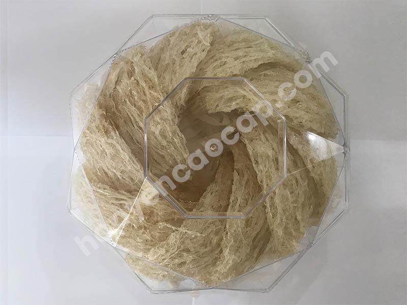 Hộp nhựa đựng yến hình kim cương 100g
